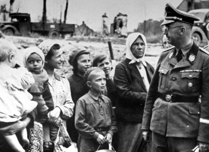 На оккупированных территориях в основном были женщины и дети.