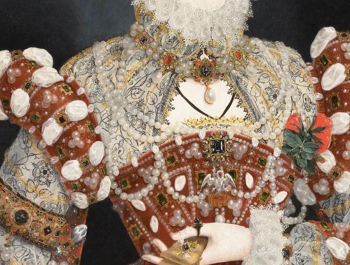 Николас Хиллиард «Портрет с пеликаном». Фрагмент картины