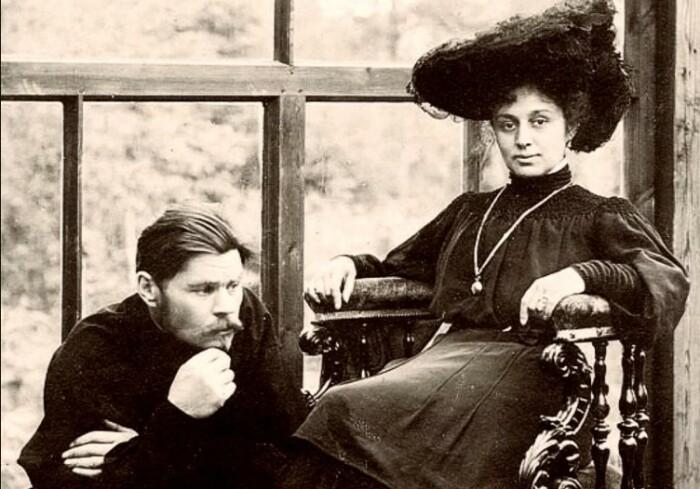 Горький и Андреева.