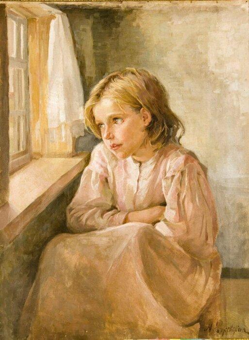Антонина Ржевская обожала рисовать портреты детей