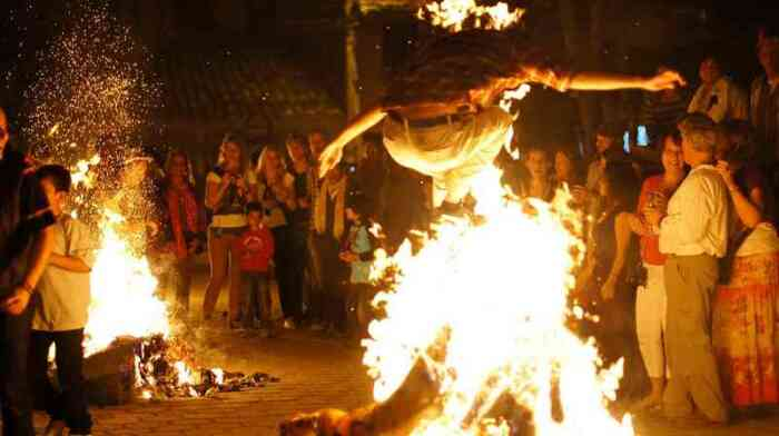 Сожжение чучела старого года