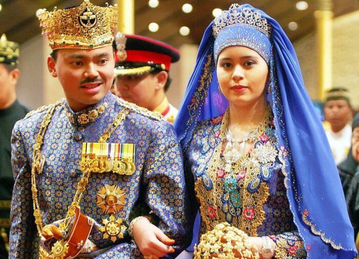 Принцесса Брунея Пенгиран Анак Сара и наследный принц Брунея Аль-Мухтади Билла Болкиах