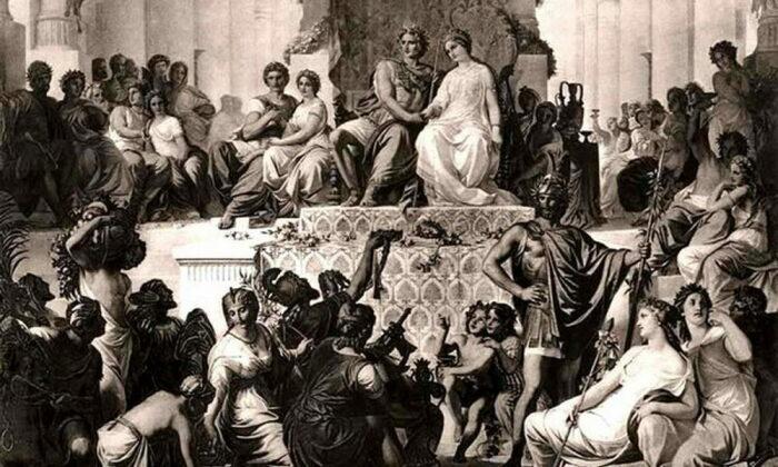 Женитьба Александра на Статире. Картина XIX в.