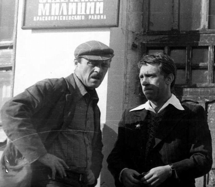 Говорухин и Высоцкий на съемках фильма «Место встречи изменить нельзя»