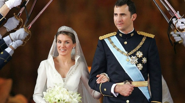 Королева-консорт Испании Летисия Ортис Рокасолано и король Испании Филипп VI
