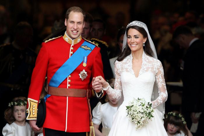Герцогиня Кембриджская Кэтрин и принц Уильям Артур Филипп Луис