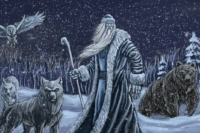 Бог Зимы со своими помощниками