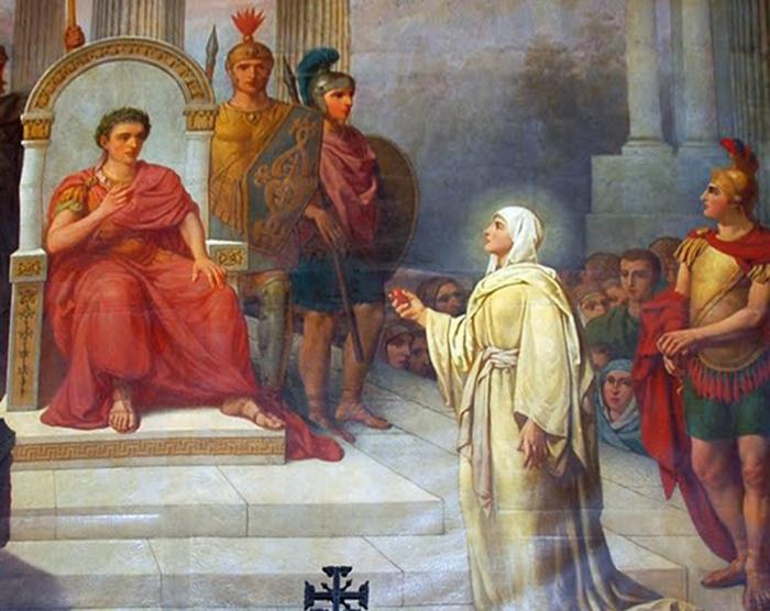 Мария Магдалена сообщает императору Тиберию добрую новость о Воскресении Иисуса