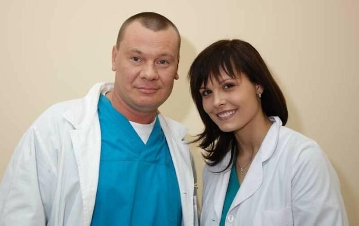 Мария Горбань и Владислав Галкин в сериале «Я лечу»