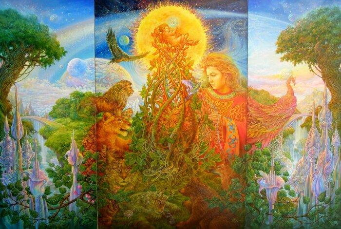 В зависимости от региона на Руси было много различных легенд о сотворении мира