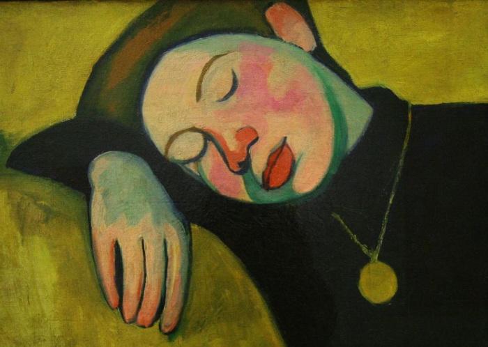 Одна из первых работ Сони Терк-Делоне «Спящая девушка»