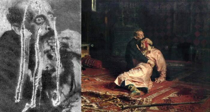 """Порча картины """"Иван Грозный убивает своего сына»"""