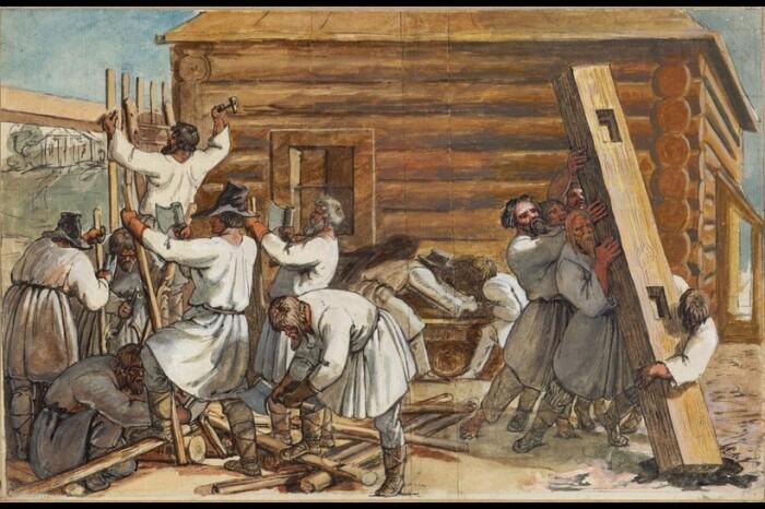 Строительство дома на Руси было целым обрядом