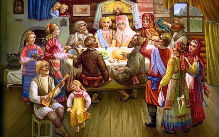 Свадебный пир на Руси