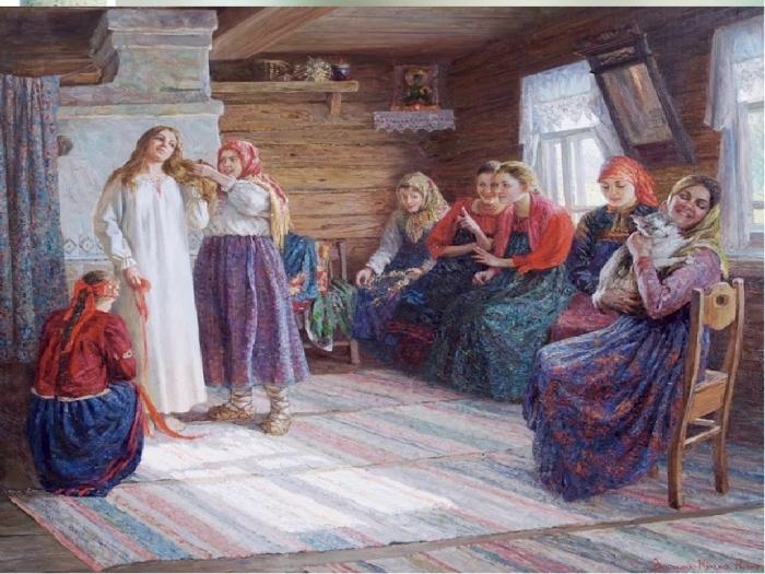 Картина Г.Г.Мясоедова «Смотрины невесты»