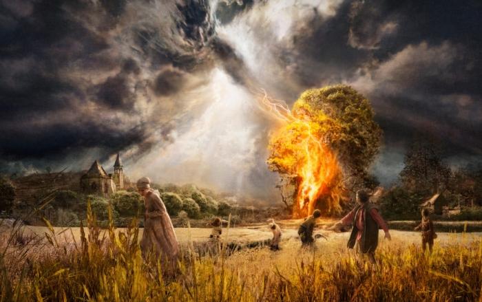 Славяне верили, что молния и горм - это Божий гнев