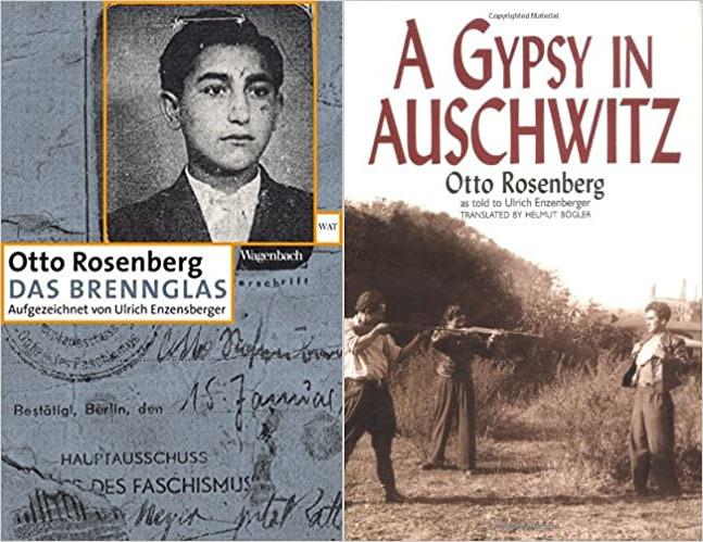 Обложки книги воспоминаний Отто Розенберга на немецком и английском языке.
