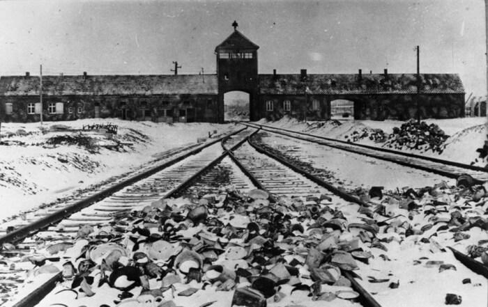 Вид на лагерь Аушвиц-Биркенау, 1945 г. / https://truthaboutcamps.eu