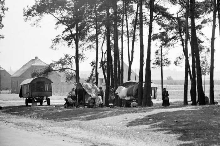 Цыганский табор в Польше, 1960-е гг. / Фото: https://holistic.news