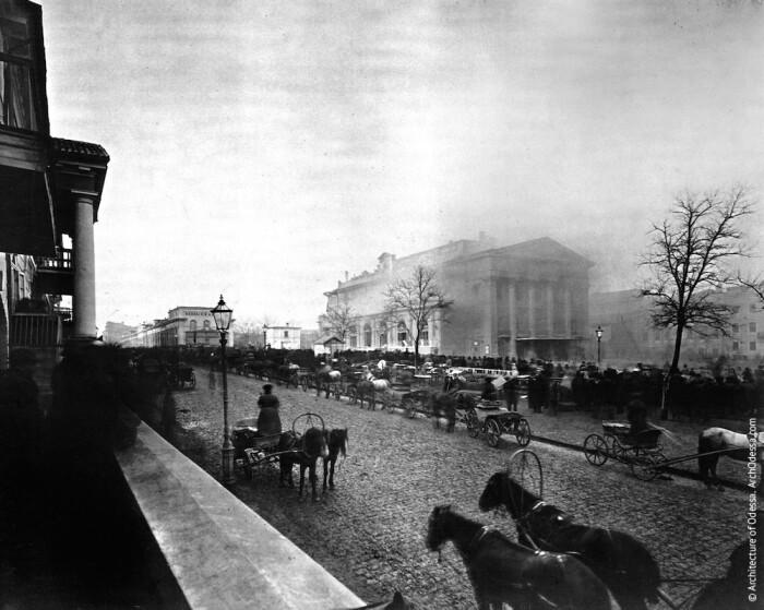 Пожар Городского театра, одно из немногих фотографических свидетельств