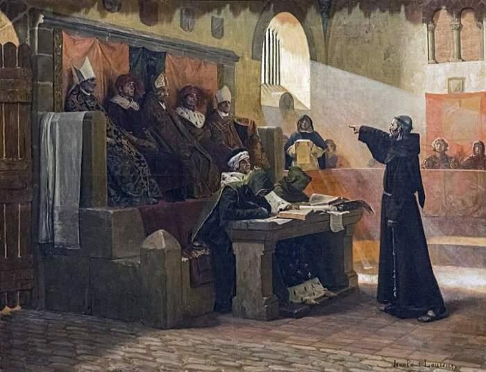 Церковный суд средневековой инквизиции / Источник: facebook.com