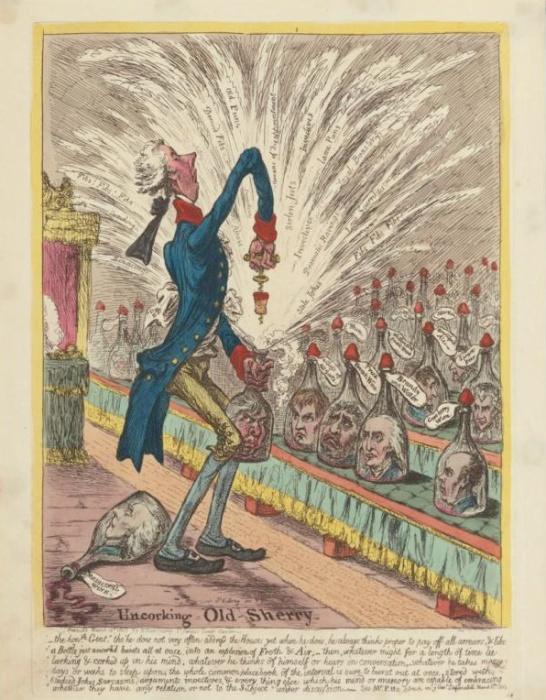 Карикатура на британского премьера Уильяма Питта-младшего / Фото: en.wikipedia.org