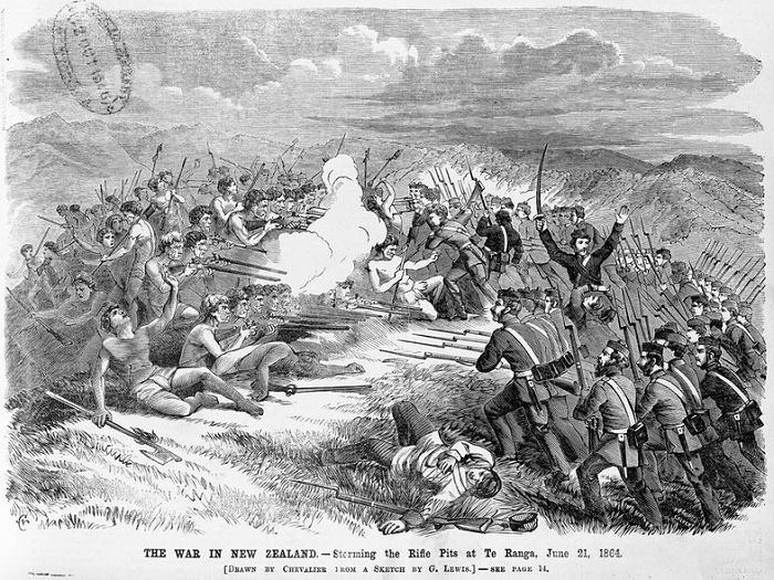 «Война в Новой Зеландии», 21 июня 1864 года. / Фото: nla.gov.au