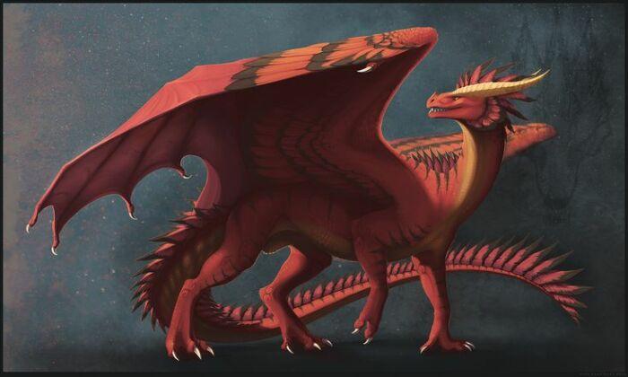 Легенда о кровожадном драконе и Драцене. / Фото: Saved by. драконы.
