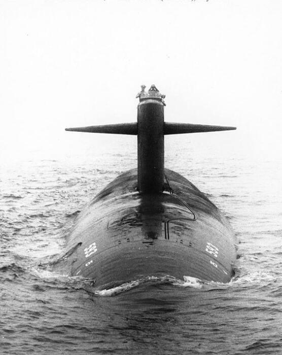 Вид на рубку подводной лодки USS Thresher, 24 июля 1961 год / Фото: history.navy.mil