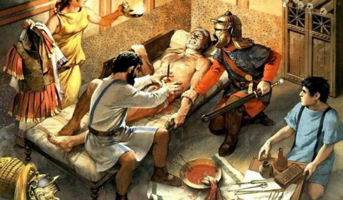 Извлечение стрелы в римском валетудинарии / Источник: homsk.com