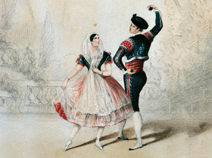 Мария Тальони и Чарльз Мюллер, 1856 год / Фото: www.marieclaire.ru