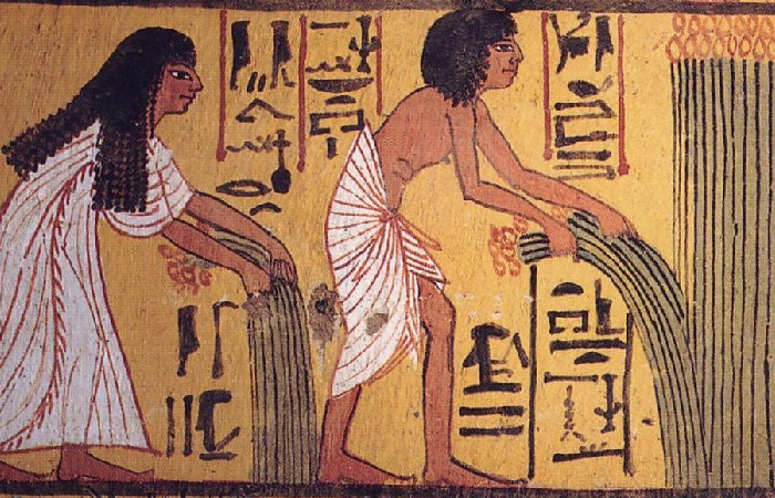 Фараоны принимали участие в начале сельскохозяйственных работ /Источник: archives.palarch.nl