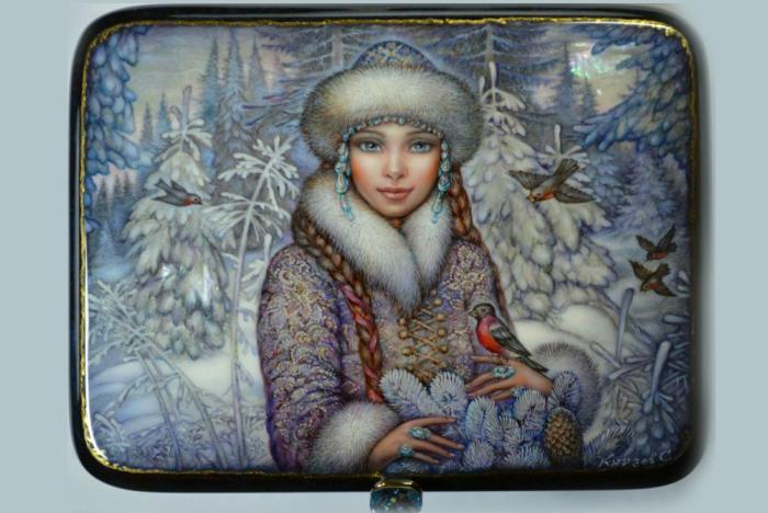 Снегурочка. Федоскино. / Фото: pikabu.ru