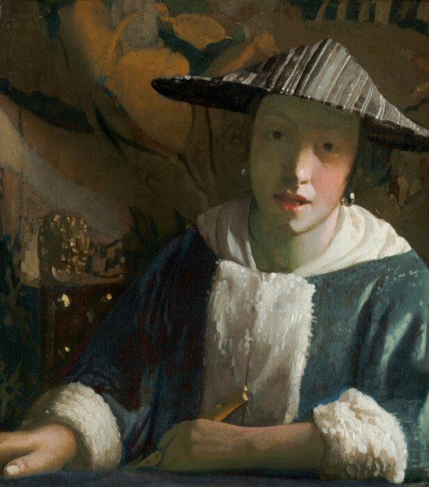 """""""Девушка с флейтой"""", Ян Вермеер / Фото: ru.artsviewer.com"""