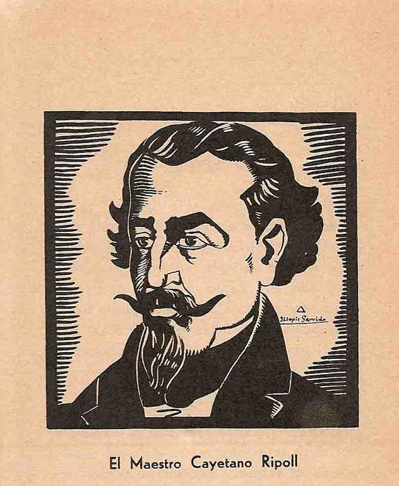 Учитель Каэтано Риполь. Рисунок Хулио Ногерры Лопеса, 1932 год / Источник: facebook.com