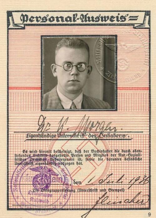 Удостоверение Конрада Моргена, 1936 год. / Фото: dw.com