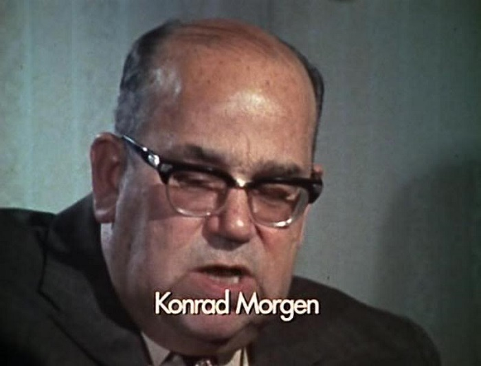 Кадр из интервью Конрада Моргена. 1974 год. / Фото: oper-1974.livejournal.com