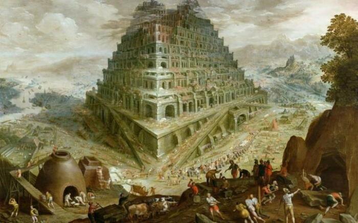Бог наказал вавилонцев за тщеславие, спутав их языки. / Фото:https://fb.ru