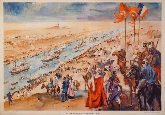Открытие Суэцкого канала, рисунок 1869 года / Фото: historynet.com