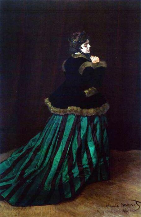 Камилла Донсье, «Дама в зеленом», Клод Моне / Фото: chitalnya.ru