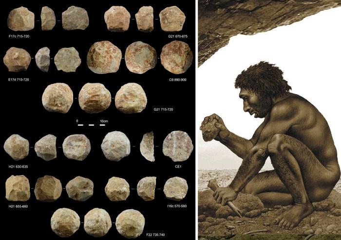 Мелкие предметы, найденные археологами в пещере Кесем