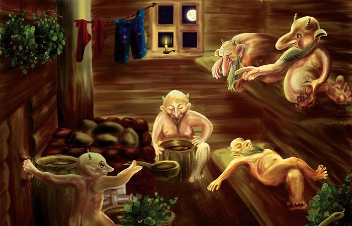 На Руси баня считалась мистическим местом, населенным духами / Фото: pinterest.com