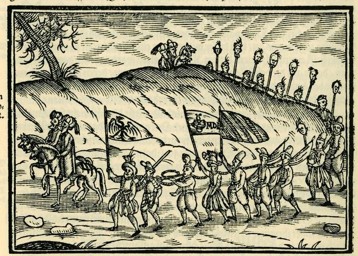 Христианские пленники направляются в Стамбул. Иллюстрация в книге немецкого священника Соломона Швайгера, 1608 год. / Фото: wikipedia.org