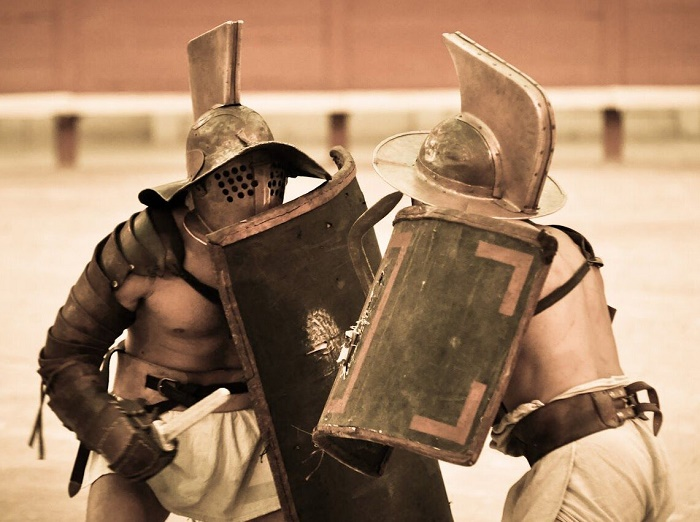 Ученые считают, что гладиаторы полнели преднамеренно / Источник: facebook.com