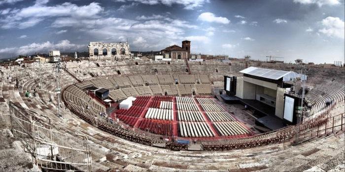 Подготовка амфитеатра к рок-концерту / Фото: stadiums.at.ua