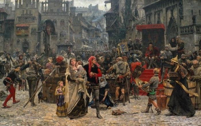 В позднем Средневековье гигиена считалась грехом. / Фото: pinterest.com