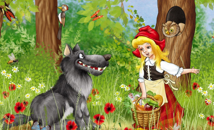В лесу Красная шапочка встретила голодного волка. / Фото: orpheusradio.ru