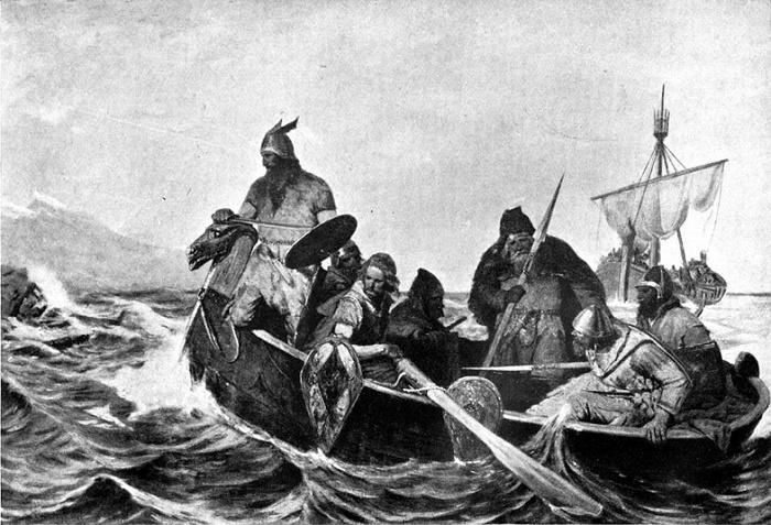 Иллюстрация из книги Хелена Гербера «Мифы норманнов». / Фото: archive.org