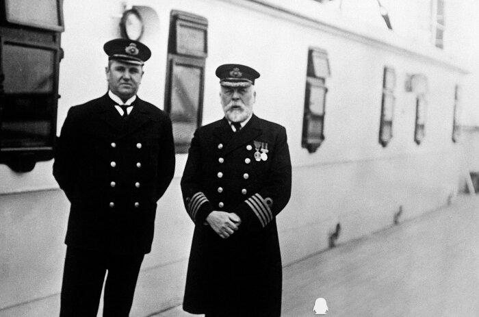 Казначей «Титаника» Хью Уолтер Мак-Элрой (справа) и капитан Эдвард Джон Смит (слева)  / Фото: http://izobata.ru/