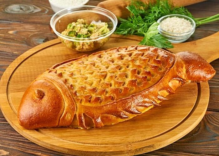 Аппетитная московская кулебяка / Фото: lb-s.ru